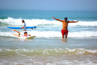 Beginners surf lesson