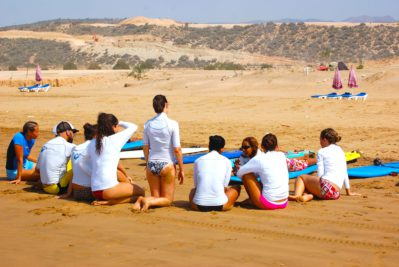 Surf lessons with Hee nalu surf camp